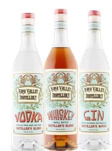 Napa Valley Distillery Vodka Whiskey Gin